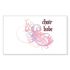 Choir Babe Rectangle Sticker 50 pk)