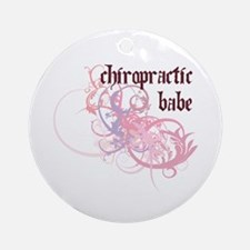 Chiropractic Babe Ornament (Round)