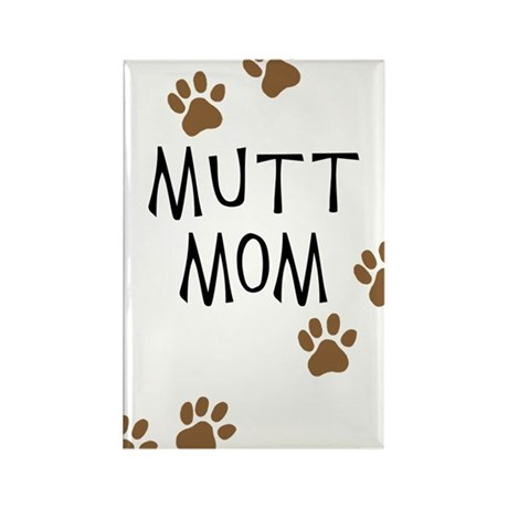 Mutt Mom Rectangle Magnet