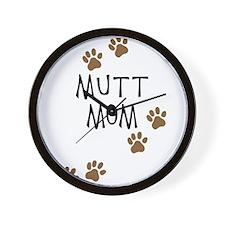 Mutt Mom Wall Clock