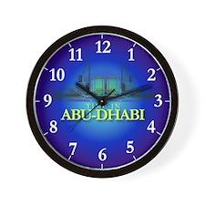 """""""Time in Abu-Dhabi"""" Wall Clock"""