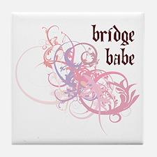 Bridge Babe Tile Coaster