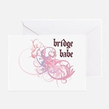 Bridge Babe Greeting Card