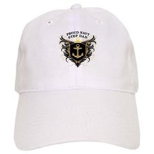 Proud Navy Step Dad Baseball Cap