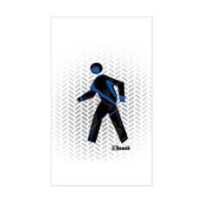 Graphic Crosswalk Person Rectangle Decal
