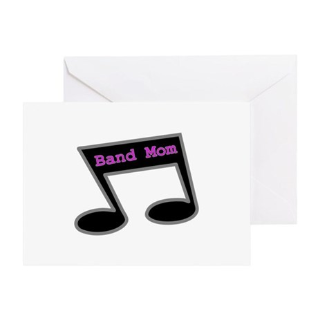 Music Note Band Mom Greeting Card