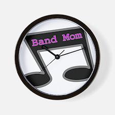 Music Note Band Mom Wall Clock