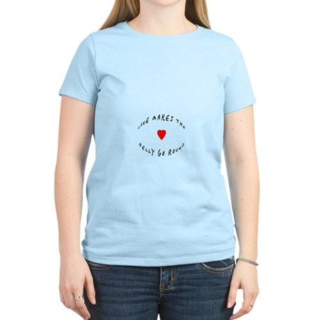 Love makes the belly go round Women's Light T-Shir