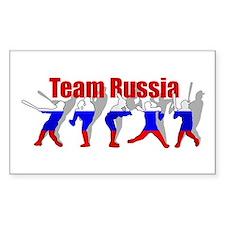Russian Baseball Rectangle Decal