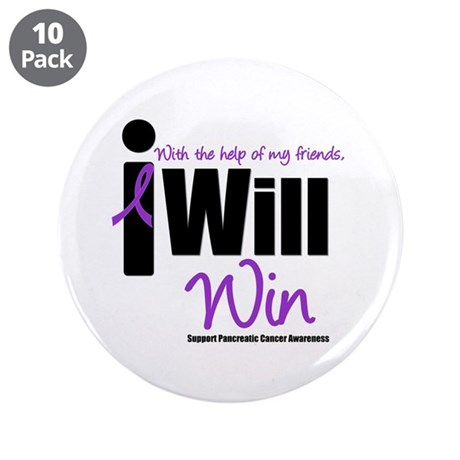 """Pancreatic Cancer 3.5"""" Button (10 pack)"""