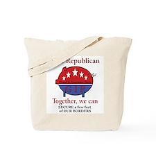 Border Pig Tote Bag