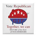 Border Pig Tile Coaster