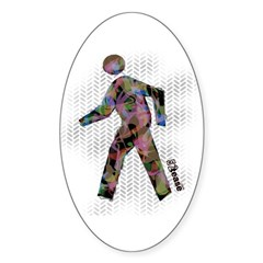 Graphic Crosswalk Person Oval Decal