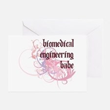 Biomedical Engineering Babe Greeting Card
