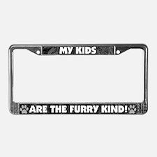 Furry Kind Dog Lover License Plate Frame