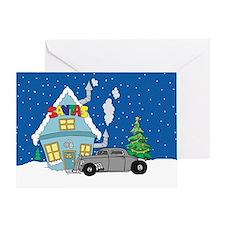 Santas Ratrod Christmas Greeting Card
