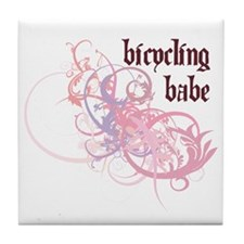 Bicycling Babe Tile Coaster