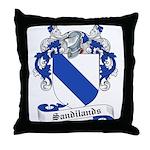 Sandilands Family Crest Throw Pillow