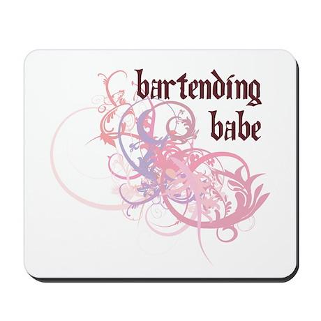 Bartending Babe Mousepad