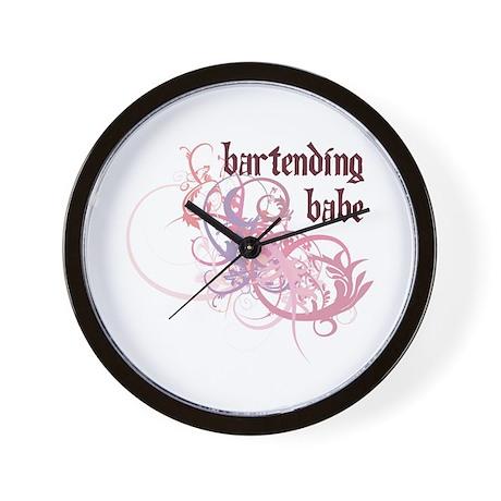 Bartending Babe Wall Clock