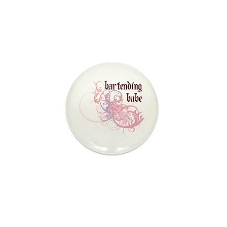Bartending Babe Mini Button