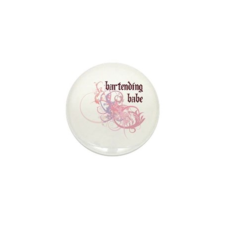 Bartending Babe Mini Button (100 pack)