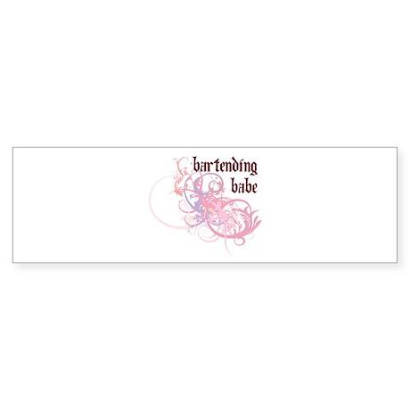 Bartending Babe Bumper Sticker