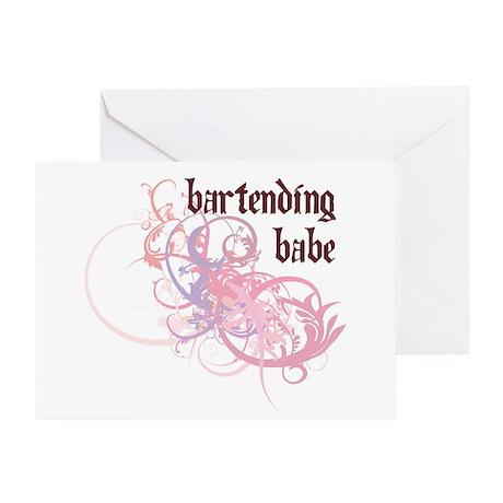 Bartending Babe Greeting Card