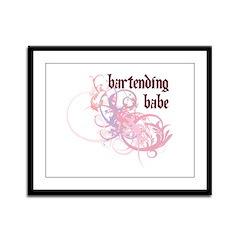 Bartending Babe Framed Panel Print