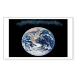 Earth Day Earthrise Rectangle Sticker