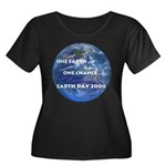 Earth Day 09 Women's Plus Size Scoop Neck Dark Tee