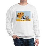Sunflowers/PBGV8+Wheaten8 Sweatshirt