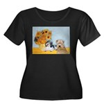 Sunflowers/PBGV8+Wheaten8 Women's Plus Size Scoop