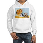 Sunflowers/PBGV8+Wheaten8 Hooded Sweatshirt