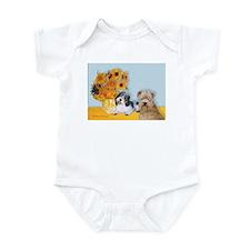 Sunflowers/PBGV8+Wheaten8 Infant Bodysuit