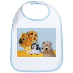 Sunflowers/PBGV8+Wheaten8 Bib