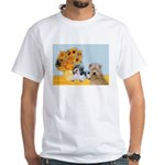 Sunflowers/PBGV8+Wheaten8 White T-Shirt
