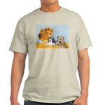 Sunflowers/PBGV8+Wheaten8 Light T-Shirt