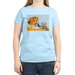 Sunflowers/PBGV8+Wheaten8 Women's Light T-Shirt