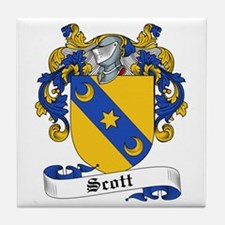 Scott Family Crest Tile Coaster