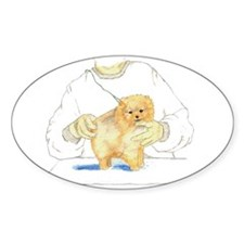 Pom Pup Training Oval Decal