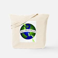 Green Footprints Tote Bag
