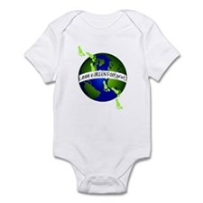 Green Footprints Infant Bodysuit