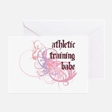 Athletic Training Babe Greeting Card