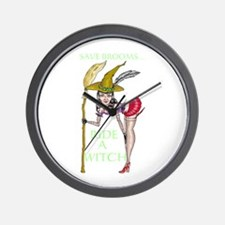 RIDE A WITCH Wall Clock