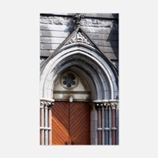 Closed Door at St. Mary's Rectangle Decal