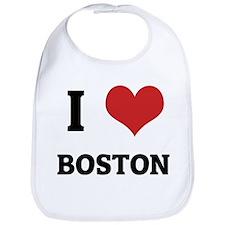 I Love Boston Bib