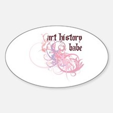 Art History Babe Oval Decal