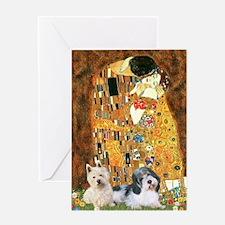 KISS/PBGV8+Westie1 Greeting Card