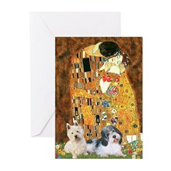 KISS/PBGV8+Westie1 Greeting Cards (Pk of 10)